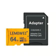 64GB Class 10 High Quality Micro SD Card  With Free Adapter