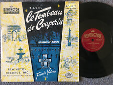 FRIEDA VALENZI Ravel Le Tombeau De Couperin SOLO PIANO Remington RLP-149-17 VG+