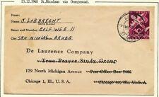 CURACAO, 12½ CT. LP. MET ARUBA ST. NICOLAAS 2, 13.XII.48 OP ENVELOP - USA  Ac780
