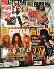 4 Guitar World Magazines 2007 Feb March April July Hendrix Van Halen Slash Vg