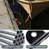 D Ring Tie Down Anchor 4 PCS Lashing Metal Plated Points Ute Trailer  60x60MM