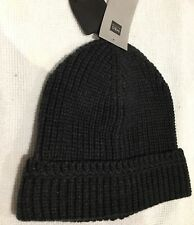 Mens M & S Knitted Dark Charcoal Grey Beanie Hat One Size BNWT FREE P&P