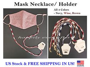 Face Mask Holder, Mask Strap, Mask Lanyard, Mask Necklace- All 3 PCs! *US SELLER