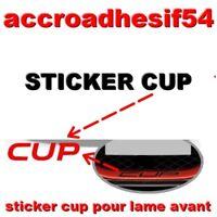 CUP LAME STICKER AUTOCOLLANT PARE CHOC JUPE FACE AVANT Clio RS Mégane RS.