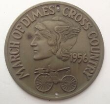 1956 MARCH OF DIMES CROSS COUNTRY ANTIQUE AUTO TOUR MEDALLION