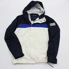 VTG 90s Nautica White Blue Color Block Sailing Windbreaker Jacket Men's Medium