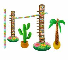 Inflatable Limbo Game Palm Tree Cactus Set Fancy Dress Hawaii Party Accessory