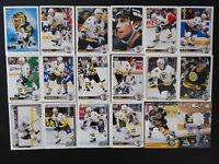 1992-93 Upper Deck UD Boston Bruins Team Set of 18 Hockey Cards Missing 4 Cards