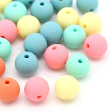 200PCs Candy Color Acrylic Spacer Beads Round Mixed 6mm H003