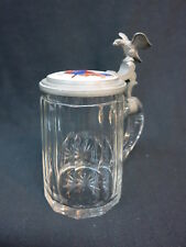 Pre Prohibition American Flag British Colonial Flag Beer Stein Glass 1877 Unive