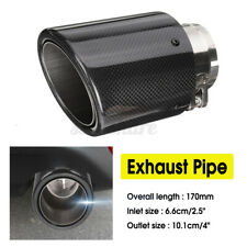 66mm-101mm Universal Carbon Fiber Style Car Exhaust Pipe Tail Muffler End Tip