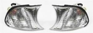 BMW 3 Series E46 2 Door 1998-2001 Clear Front Indicator Pair Left & Right