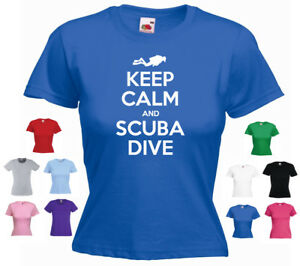 'Keep Calm and Scuba Dive' Diving Sport Ladies t-shirt