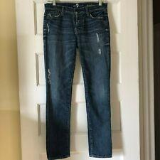 7 For All Mankind Womens Sz 25 Josefina Skinny Boyfriend Distressed Jeans