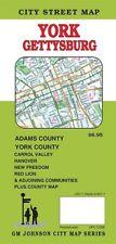 City Street Map of York, Gettysburg, Pennsylvania, by GMJ Maps