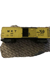 RARE American Flyer S Gauge 1958 Only #24016 M.K.T. Box Car, Yellow and Brown