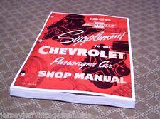 1956 Chevrolet Belair Nomad Shop Manual Booklets 1955 supplement NOS