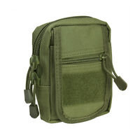 VISM CVSUP2934G OD GREEN Accessory Tactical Modular MOLLE Small Utility Pouch