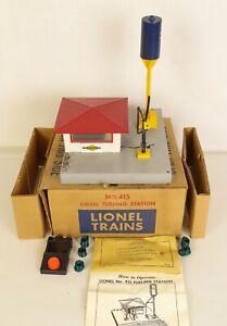 LIONEL #415 POSTWAR DIESEL FUELING STATION-VG+ COMPLETE IN ORIGINAL BOX!