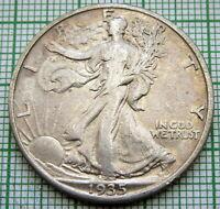 UNITED STATES 1935 1/2 HALF DOLLAR WALKING LIBERTY, PHILADELPHIA SILVER