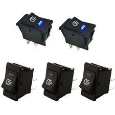 5x HOTSYSTEM 12V 35A Car Auto Fog Light Rocker Toggle Switch Blue LED Dashboard