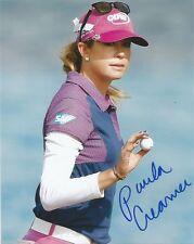 LPGA Paula Creamer Autographed Signed 8x10 Photo COA M