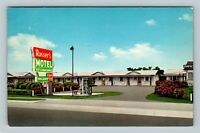 Calhoun GA, Rosser Motel Phone Booth, Chrome Georgia Postcard