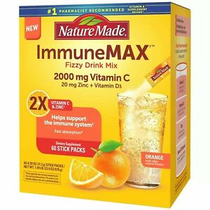 Nature Made ImmuneMAX Fizzy Drink Mix with Vitamin C Vitamin D and Zinc Suppleme