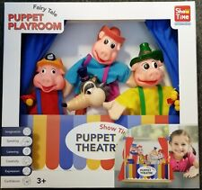 The Three Little Pigs 4 Hand Puppet Theatre Storytelling Set