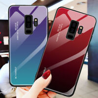 Tempered Glass Back Case For Samsung Galaxy Note9 S9 Plus Gradient Hybrid Cover