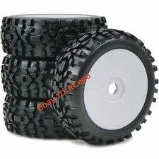4pcs 1/8 RC Off Road Tires & Hex 17mm Wheels for RC All Terrain Wild Buggy Car
