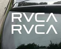 2x LARGE RVCA SURF Car/Van/Window JDM VW DUB VAG EURO FAT Vinyl Decal Sticker