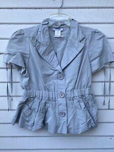 SONIA by SONIA RYKIEL Gray Shirt Blouse Sz 40