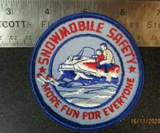 Vintage Snowmobile Safety Patch, sew on Jacket or other clothing.
