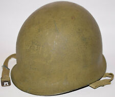"""Original WWII US Military McCord Fixed Bale M1 helmet - Overpainted Name """"Wolty"""""""