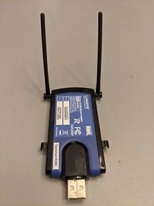 Linksys Wireless-N USB Network Adapter, WUSB300N 300 Mbps Data Xfr Rate Genuine