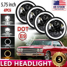 """Fit For Ford Gran Torino 5 3/4"""" 5.75"""" Projector LED Headlight DRL Halo Ring 4PCS"""