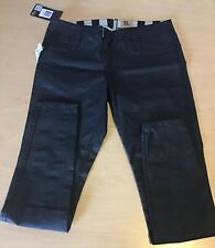 HURLEY Women's Skinny 81 Jeans NEW Reversible 30/9 $80 Black NWT Striped