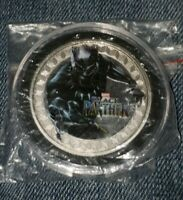 BLACK PANTHER SILVER PLATED 40MM  COIN! MINT CONDITION! BRAND NEW!