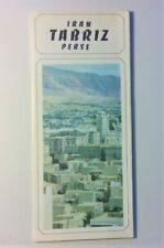 Vintage Iran Travel Brochure Tabriz Perse ~ 1971