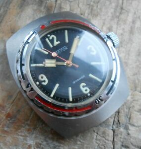 Rare vintage military diver watch Vostok Amphibian NVCh-30 300 meters, USSR, 80s
