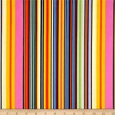 Multi Stripe Petal Party Chong-a Hwang Timeless Treasures Fabric 1/2 Yard
