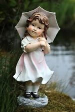 Garden Ornament Little Girl Lady Cherub Fairy Garden Decor Patio