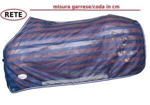 Coperta cavalli antimosche insetti rete fine blu paddock Umbria equitazione