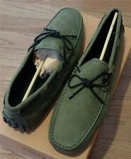 $495 Mens Authentic TOD's Gommini Laccetto Drivers Sage Green US 10.5 UK 9.5