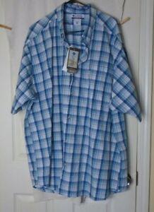 Columbia Sporting Company Men Size 3XB short Sleeve Plaid  Button Down Shirt