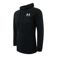 Mens Under Armour UA Coldgear Fleece Loose Fit Pullover Hoodie Black Sz L C2