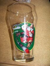 TWO - Coke Coca-cola Christmas 1996 Santa Claus with train set glasses glass