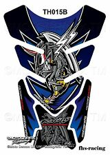 TH015B , MOTOGRAFIX - Tankpad , Tankprotektor , HONDA , Angry Hornet , blau