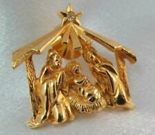 Scene, Unique , Detailed Vintage Chunky Gold Dimensional Nativity